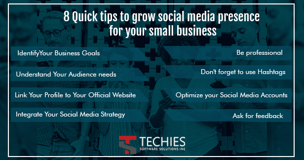 8 Quick tips to grow social media presence for your small business